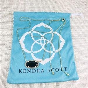 Kendra Scott Delaney black gold necklace